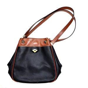 Bottega Veneta Black & Saddle Handbag Purse